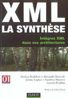 Couverture du livre « Xml : La Synthese ; Integrez Xml Dans Vos Architectures ; Edition 2003 » de Laplace et Kaszycki et Boukhors et Munerot et Poublan aux éditions Dunod