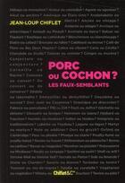 Couverture du livre « Porc ou cochon ? les faux-semblants » de Jean-Loup Chiflet aux éditions Chiflet