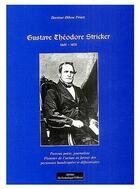Couverture du livre « Gustave Théodore Stricker » de Othon Printz aux éditions Do Bentzinger