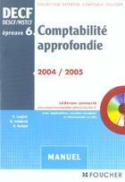 Couverture du livre « Comptabilite approfondie, epreuve 6 (édition 2004/2005) » de G Langlois aux éditions Foucher