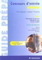 Couverture du livre « Concours D'Entree Infirmier ; 2e Edition » de Jacqueline Gassier et Marie-Christine Denoyer aux éditions Elsevier-masson