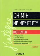 Couverture du livre « Chimie ; MP/MP*; PT/PT* ; tout-en-un (5e édition) » de Bruno Fosset et Jean-Bernard Baudin et Frederic Lahitete aux éditions Dunod