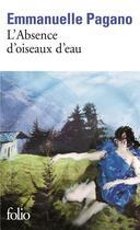 Couverture du livre « L'absence d'oiseaux d'eau » de Emmanuel Pagano aux éditions Gallimard
