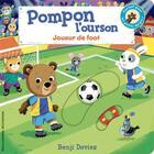 Couverture du livre « Pompon l'ourson : joueur de foot » de Benji Davies aux éditions Gallimard-jeunesse