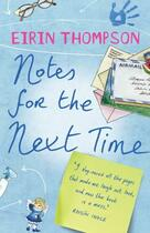 Couverture du livre « Notes for the Next Time » de Thompson Eirin aux éditions Hachette Ireland Digital