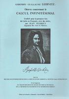 Couverture du livre « Oeuvre concernant le calcul infinitésimal » de Gottfried Wilhelm Leibniz aux éditions Blanchard