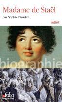 Couverture du livre « Madame de Staël » de Sophie Doudet aux éditions Gallimard