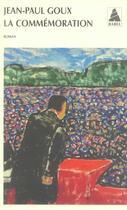 Couverture du livre « La commémoration » de Jean-Paul Goux aux éditions Actes Sud