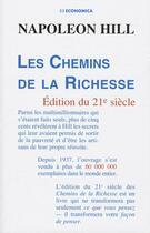 Couverture du livre « Les  chemins de la richesse » de Napoleon Hill aux éditions Economica