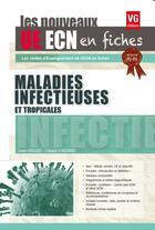 Couverture du livre « Ue Ecn En Fiches Maladies Infectieuses Edition 2017 » de Xavier Vincent aux éditions Vernazobres Grego