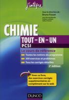 Couverture du livre « Chimie ; PCSI ; tout-en-un (2e édition) » de Bruno Fosset et Valery Prevost et Jean-Bernard Baudin et Frederic Lahitete aux éditions Dunod