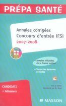 Couverture du livre « Concours IFSI ; annales corrigées (édition 2007-2008) » de Mireille Tenet aux éditions Elsevier-masson
