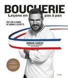 Couverture du livre « Boucherie, leçons en pas à pas » de Romain Leboeuf aux éditions Chene