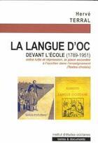 Couverture du livre « La langue d'oc devant l'école » de Herve Terral aux éditions Ieo Edicions