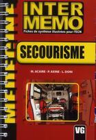 Couverture du livre « Secourisme » de M Acaire aux éditions Vernazobres Grego