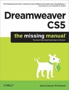 Couverture du livre « Dreamweaver CS5 ; the missing manual » de David Sawyer Mcfarland aux éditions O Reilly