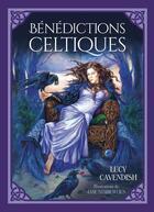 Couverture du livre « Bénédictions celtiques ; cartes de bénédictions celtiques pour une vie plus riche et plus épanouie ; coffret » de Lucy Cavendish et Jane Starr Weils aux éditions Exergue