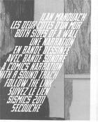Couverture du livre « Les deux côtés d'un mur » de Ilan Manouach aux éditions La Cinquieme Couche