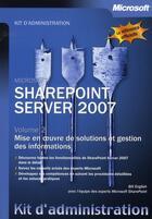 Couverture du livre « KA sharepoint server 2007 t.2 » de Bill English aux éditions Microsoft Press