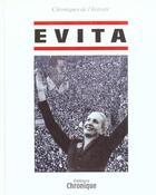 Couverture du livre « Evita Peron » de Collectif aux éditions Chronique