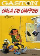 Couverture du livre « Gaston T.4 ; gala de gaffes » de Jidehem et Andre Franquin aux éditions Dupuis
