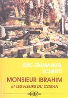 Couverture du livre « Monsieur Ibrahim et les fleurs du Coran » de Éric-Emmanuel Schmitt aux éditions A Vue D'oeil