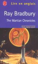 Couverture du livre « The martian chronicles » de Ray Bradbury aux éditions Lgf