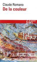 Couverture du livre « De la couleur » de Claude Romano aux éditions Gallimard
