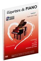 Couverture du livre « Repertoire 1ere annee + 1 dvd » de Christophe Astie aux éditions Music Sales