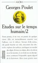 Couverture du livre « Etudes Sur Le Temps Humain T.2 » de Georges Poulet aux éditions Pocket