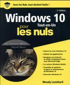 Couverture du livre « Windows 10 tout en 1 pour les nuls (3e édition) » de Woody Leonhard aux éditions First Interactive
