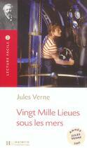 Couverture du livre « 20 000 lieues sous les mers (b1) » de Jules Verne aux éditions Hachette Fle