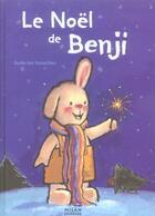 Couverture du livre « Le noël de benji » de Guido Van Genechten aux éditions Milan