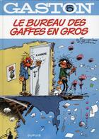 Couverture du livre « Gaston T.5 ; le bureau des gaffes en gros » de Jidehem et Andre Franquin aux éditions Dupuis