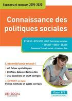 Couverture du livre « Connaissance des politiques sociales ; examens et concours 2019-2020 » de Christelle Jamot-Robert aux éditions Vuibert