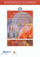 Couverture du livre « TRAVAUX PRATIQUES ET TECHNIQUES CULINAIRES » de Douin aux éditions Doin