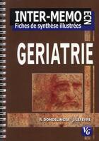 Couverture du livre « Gériatrie » de Jeremie Lefevre et Rene Dondelinger aux éditions Vernazobres Grego