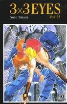 Couverture du livre « 3x3 eyes t.25 » de Yuzo Tadaka aux éditions Pika