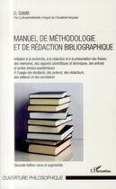 Couverture du livre « Manuel de méthodologie et de rédaction bibliographique » de Djibril Samb aux éditions L'harmattan