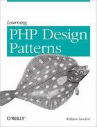 Couverture du livre « Learning PHP Design Patterns » de William Sanders aux éditions O'reilly Media