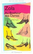 Couverture du livre « Au bonheur des dames » de Émile Zola aux éditions Flammarion