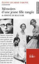 Couverture du livre « Memoires d'une jeune fille rangee de simone de beauvoir (essai et dossier) » de Lecarme-Tabone E. aux éditions Folio