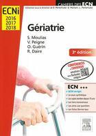 Couverture du livre « Gériatrie » de Sophie Moulias et Olivier Guerin et Vincent Peigne et Rodolphe Daire aux éditions Elsevier-masson
