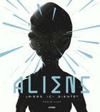 Couverture du livre « Aliens ; là-bas, ici, bientôt » de Ron Miller aux éditions Chronique