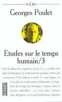 Couverture du livre « Etudes Sur Le Temps Humain T.3 » de Georges Poulet aux éditions Pocket