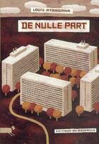 Couverture du livre « De nulle part » de Louis Atangana aux éditions Rouergue