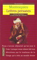 Couverture du livre « Les Lettres Persanes » de Montesquieu aux éditions Pocket