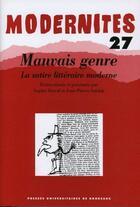 Couverture du livre « Mauvais genre ; la satire littéraire moderne » de Sophie Duval aux éditions Pu De Bordeaux