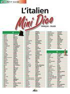 Couverture du livre « Mini dico français/italien » de Collectif aux éditions Aedis