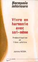 Couverture du livre « Vivre En Harmonie Avec Soi-Meme » de Janine Mora aux éditions Lanore